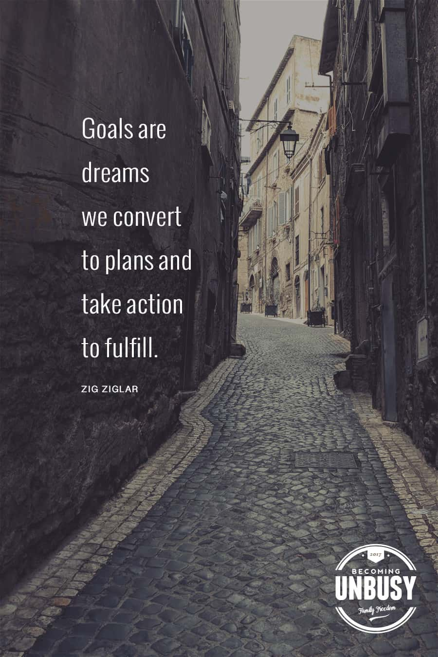Goals are dreams we convert to plans and take action to fulfill. - Zig Ziglar #quote #dreams #BecomingUnBusy *Love this quote and this article!