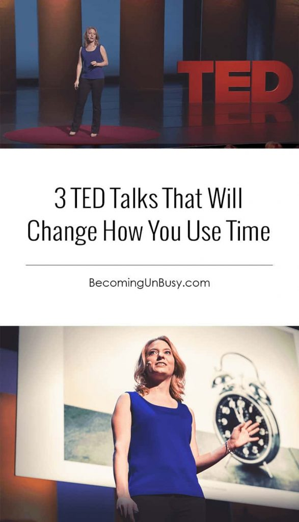3 TED Talks That Will Change How You Use Time #TEDTalks *Great list of TED Talks that will change your perspective on time. Loving this Becoming UnBusy site!