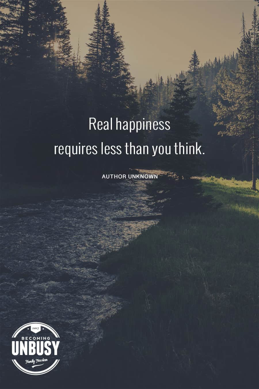 Real happiness requires less than you think. #truth #quote #minimalism #livelife *Loving this whole post!