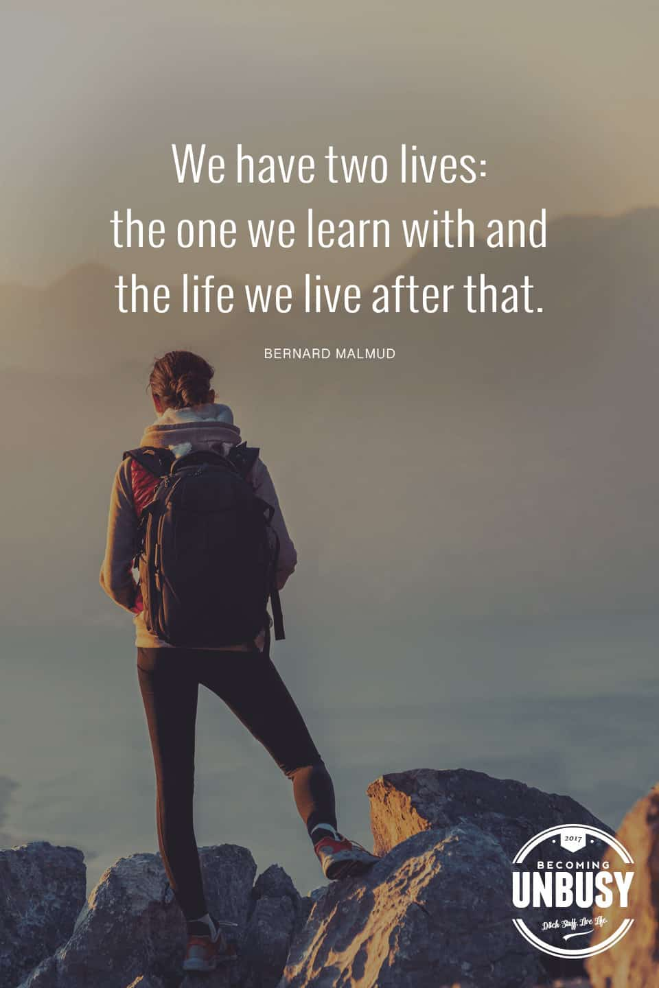 We have two lives: the one we learn with and the one we live after that. -- 10 inspirational quotes about life that will help you focus on what's important #quotes #lifequotes #inspirationalquotes *Loving this collection of life quotes!
