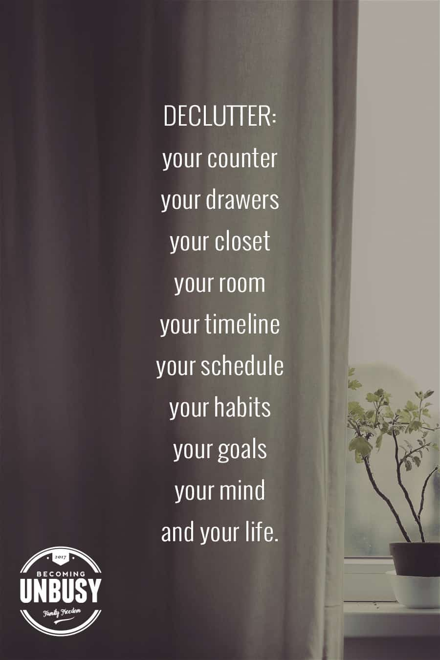 Own less. Live More. And discover the life you've always wanted. #uncluttered *Love this!
