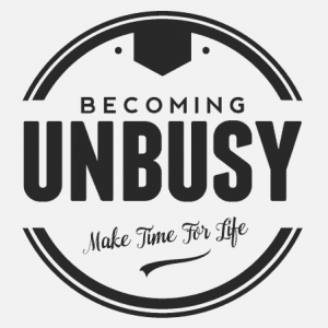 becoming unbusy logo