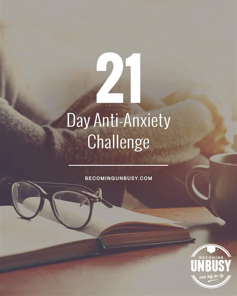 Twenty-one simple things you can do to help you cultivate a calmer, stronger, healthier mental state. *Loving this anti-anxiety challenge